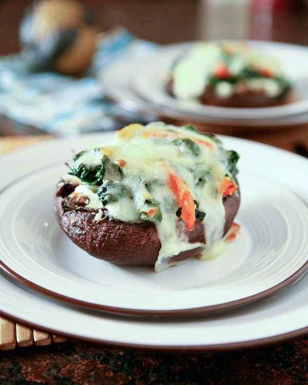 Spinach And Ricotta Stuffed Portobello Mushrooms:
