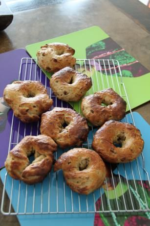 Cinnamon Raisin Bagels (Bread Machine) from Food.com.  We're making these to have for breakfast. Yum!