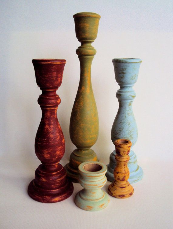 The 25 best orange candle holders ideas on pinterest for Wooden candlesticks for crafts