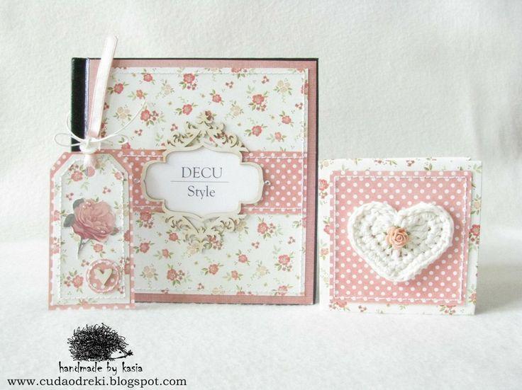 DIY, notebook, mini photo album and tag - projekt by Cuda Od Ręki