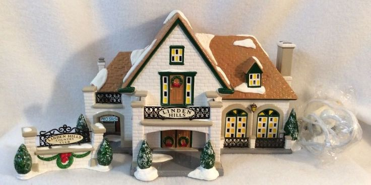 Dept 56 Original Snow Village Linden Hills Country Club #54917 Retired  | eBay