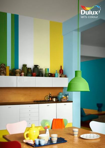 Bring fun to the #kitchen with lively pops of zesty #colour!