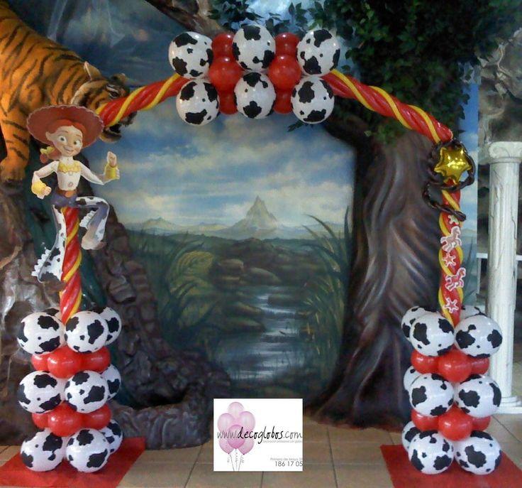 Arco De Globos Woody And Jessie Birthday Pinterest