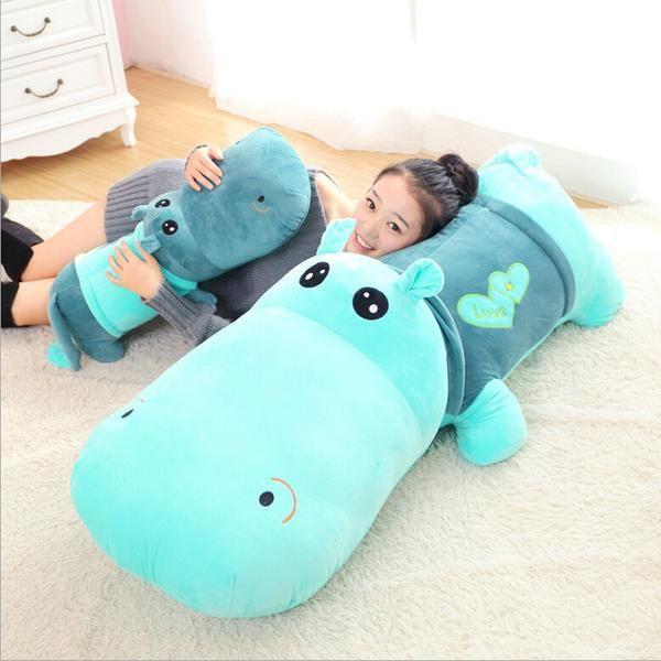 Hippo Plush Toy Pillow