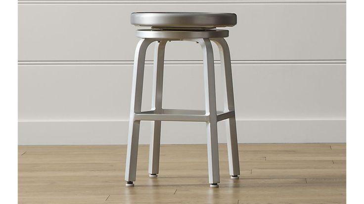 Spin Bar Stools and Cushion   Crate and Barrel