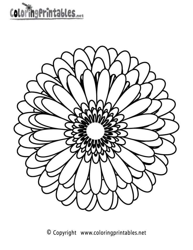 flower wallpaper abstract coloring page a free adult coloring printable - Online Coloring Pages For Adults