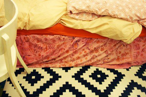 bed colours, sicily textile, pink bed