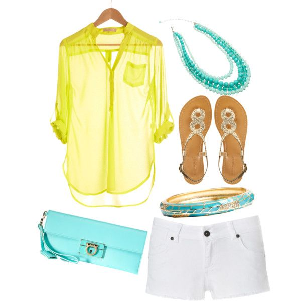 """""""Yellow and Turquoise <3"""" by sbigg11 on Polyvore"""