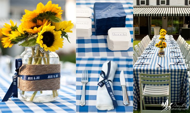 sunflower theme rehearsal dinner   Their country barbeque rehearsal dinner was absolutely charming, with ...