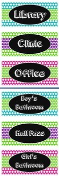 {FREE} Back to School ~ Multi Colored Chevron Ombré Hall Passes (6 pack)