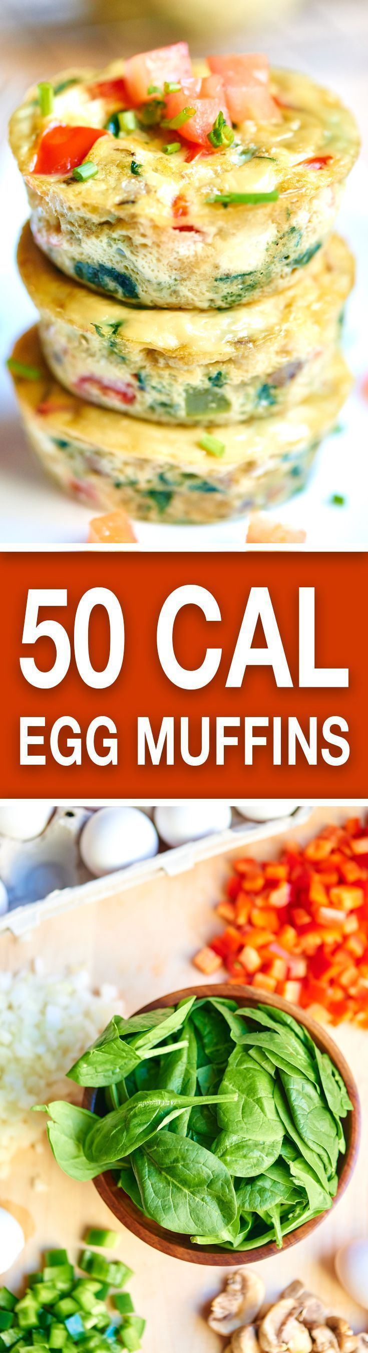 These healthy egg muffin cups can be made in advance, have less than 50 calories per muffin, and are packed with tons of protein and veggies! http://showmetheyummy.com