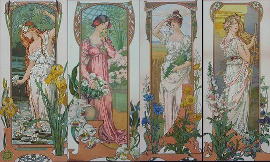 Elisabeth Sonrel ::  4 Nouveau Maidens