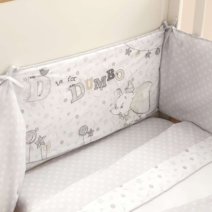 Disney Dumbo Nursery Bed Linen Collection | Dunelm                                                                                                                                                     More