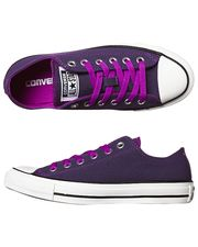 CONVERSE CHUCK TAYLOR ALL STAR DARK NEONS SHOE - PURPLE CACTUS FLOWER on www.surfstitch.com