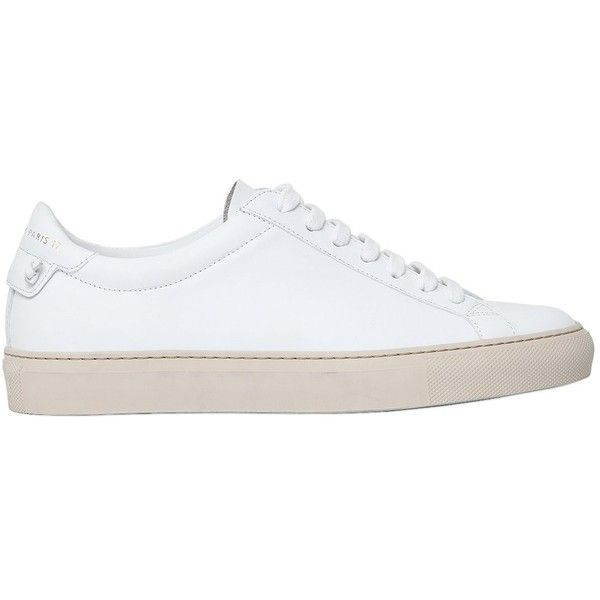 Givenchy Women 20mm Knot Leather Sneakers ($610) ❤ liked on Polyvore featuring shoes, sneakers, white, leather platform sneakers, white leather shoes, white platform sneakers, white platform shoes and platform trainers