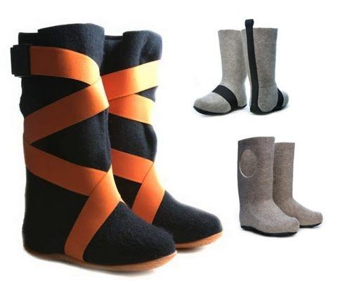Felt boots have come a long way! Aki Choklat for Lahtiset