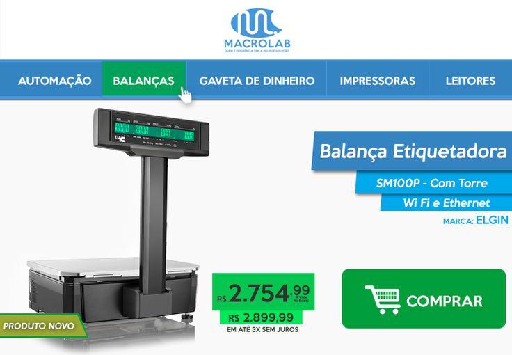 Pode Comparar! :) #Balança #Etiquetadora Com #Torre SM100P #Produto #Novo, #Impecável pelo Menor preço.   Balança SM100P-> https://www.macrolab.com.br/balanca-etiquetadora-sm100p-15kg-c-torre-ethernet-wifi-46balsm100p0-elgin.html