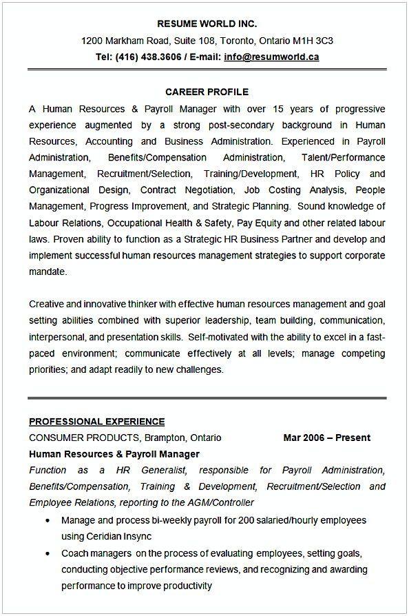 Human Resources Resume Sample Hr Manager Resume Sample This Hr Manager Resume Sample Article Below Is W Hr Management Manager Resume Human Resources Resume