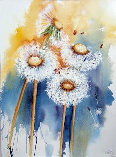 Watercolour Florals: Catch Up - Poppies, Roses and Dandelions
