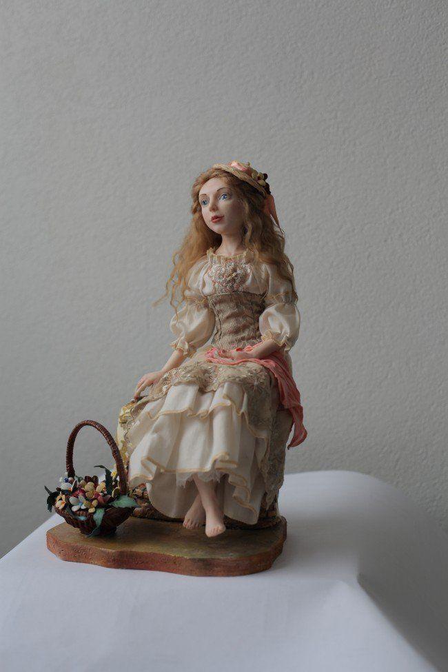 Авторская кукла *Цветочница*