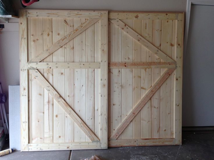 Attractive Fabulous Oak Unfinished Double Barn Style Doors For Closet Interior Doors  Ideas Added Concrete Floors As