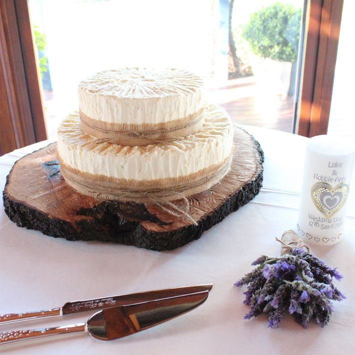 Rustic Cake with a hint of lavender #countryweddings #weddingcake #eyg2015
