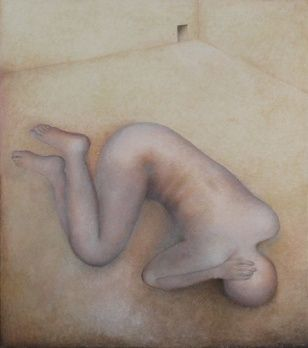Looking for Shelter, oil painting, 150 x 125 cm, 2002