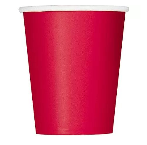 12 oz Red Paper Cups Set of 24 by FunWithPearl on Etsy