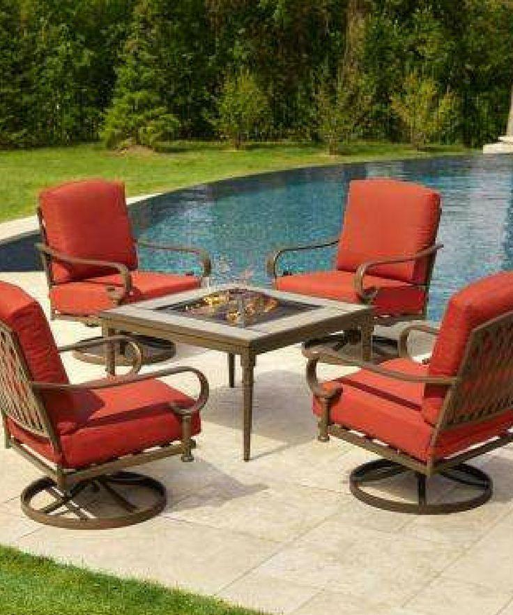 Patio Furniture Patio Outdoor Outdoordecor Outdoorideas Patioset Outdoorfurniture Outdoortable Ou Fire Pit Sets Patio Furniture Fire Fire Pit Furniture