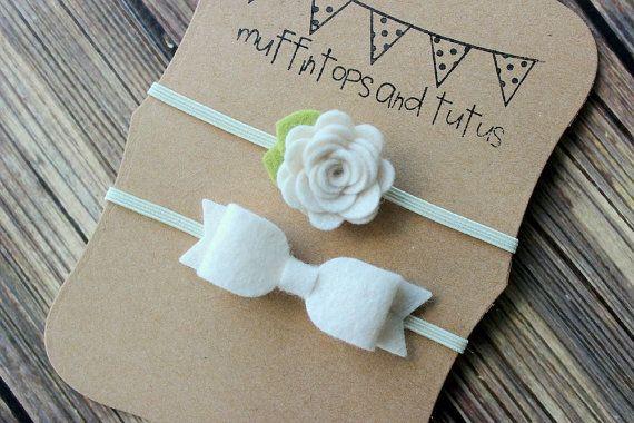 Felt headband set newborn/baby/toddler by muffintopsandtutus