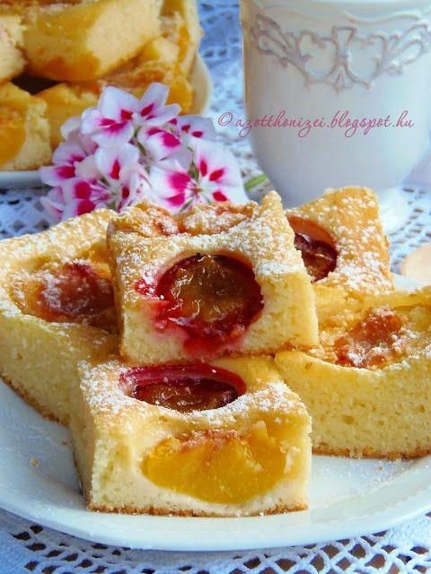 Az otthon ízei: Barackos-szilvás grízes pite Gabriellától
