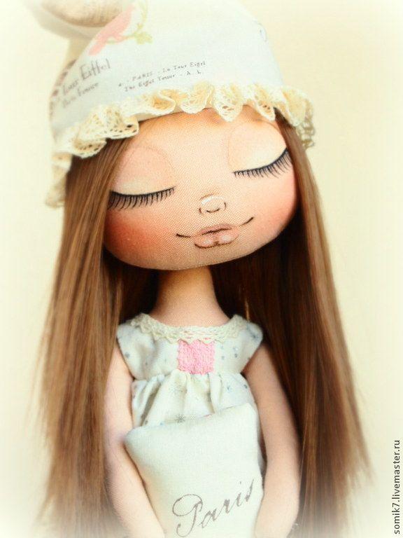 """Купить Малышка """"Сон в Париже"""" - кукла, бежевый, коллекционная кукла, кукла ручной работы"""