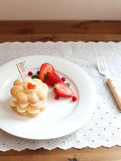 ブッセの生地で簡単ミニケーキ