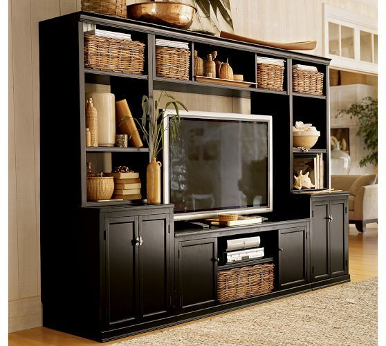 Logan Media System With Bridge Pottery Barn Bookcase
