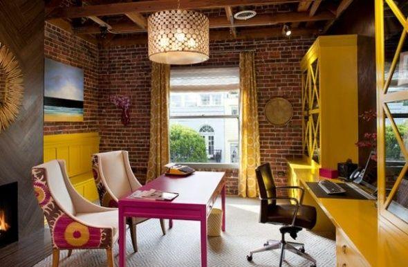 L'aménagement bureau à domicile est une excellente idée - c'est parfait pour ceux qui travaillent à la maison. Regardez nos idées de décoration de bureau: