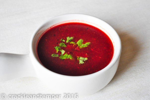 Image for: Beetroot rasam / Spicy beet soup with coconut