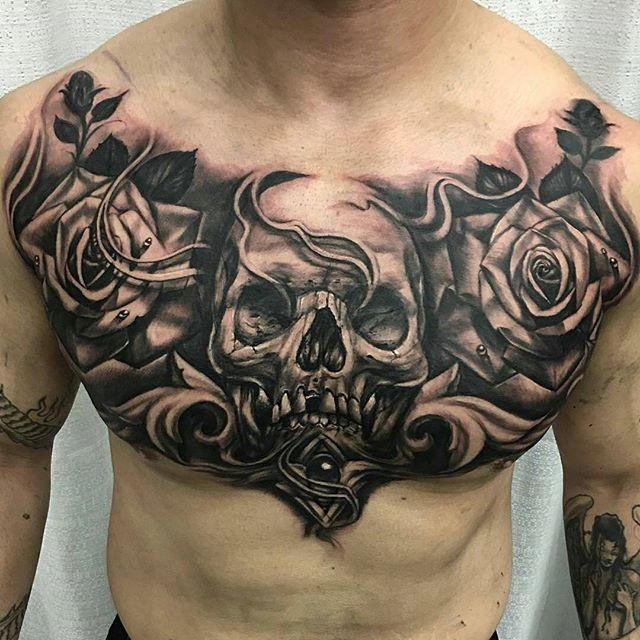 Best 25+ Full Chest Tattoos Ideas On Pinterest