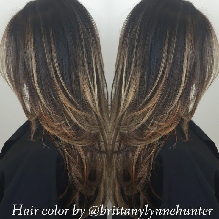 Highlights Balyage Sun Kissed Blonde La Hair