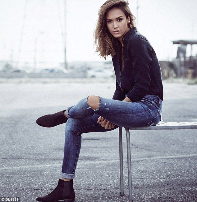 Jessica Alba takes break from Honest Company to serve as a model for denim brand | Daily Mail Online
