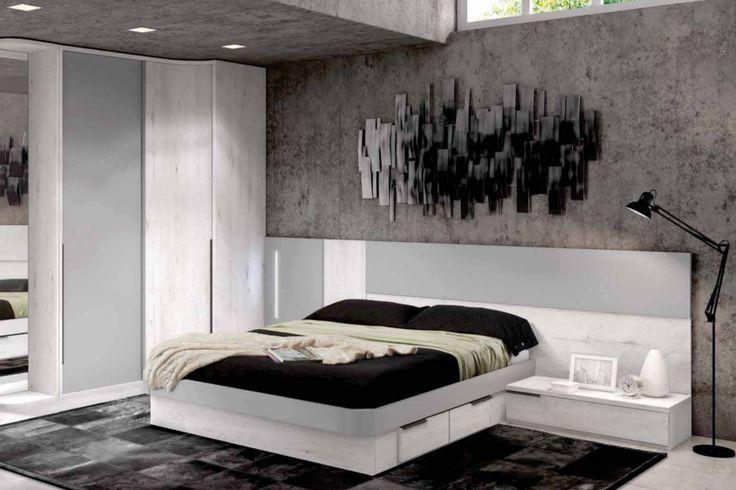 Dormitorio de matrimonio para colch n de 150x190cm toda for Medidas dormitorio matrimonio