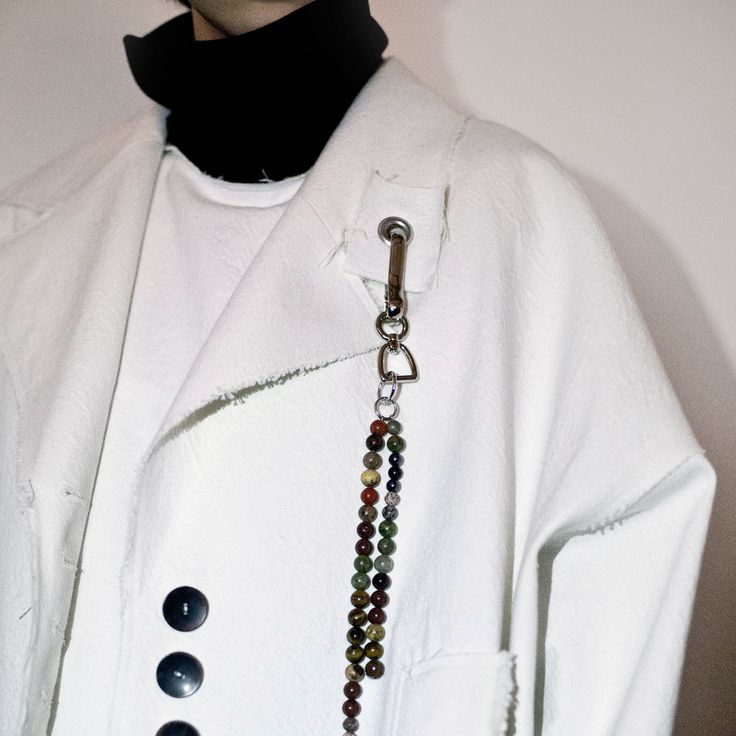Damir Doma Autumn - Winter 2016 Backstage Photograph Featuring Alis Stone Pearl Keychain. Discover Our Accessories Collection On damirdoma.com