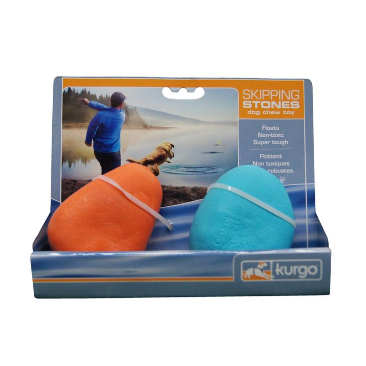 Skipping Stones Dog Toys ~ Love these floating skipping stones ~ why should the dog have all the fun ~ Non-toxic, dishwasher safe, super durable, bright colours | Kurgo