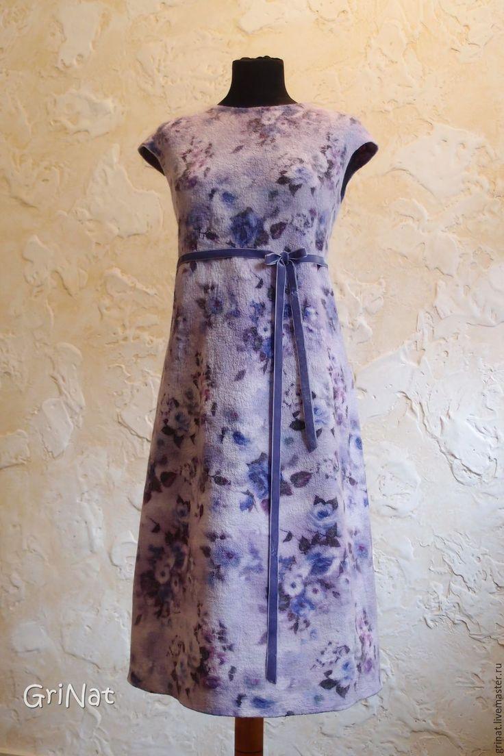 """Купить Платье""""Лавандовые розы"""" - бледно-сиреневый, фиолетовый, grinat, авторская…"""