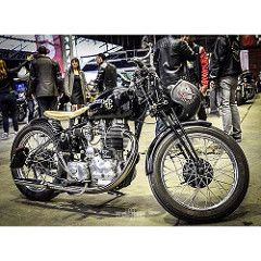 """Classic Machines """"tour de chauffe"""" #bikeexif #motorcycle #moto #biker #motocruiser #returnofthecaferacers #caferacer #caferacersofinstagram #caferacerxxx #bobber #helmet #party #rocketgarage #caferacergram #bobbersnchoppers #france #caferacerxxx #royalenf (Guillaume Ducasse Photography) Tags: instagramapp square squareformat iphoneography uploaded:by=instagram"""