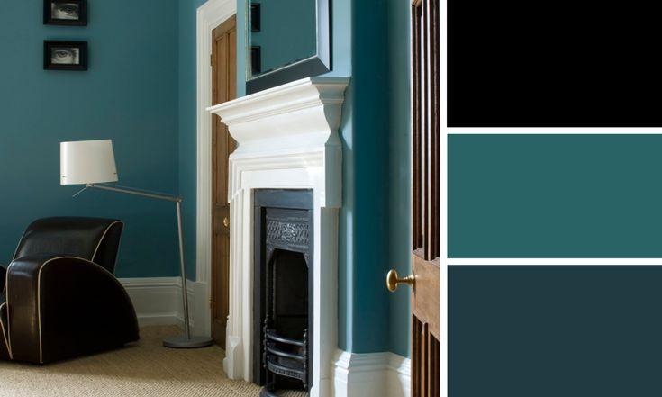 17 meilleures id es propos de cage d 39 escalier noire sur - Bleu canard avec quelle couleur ...