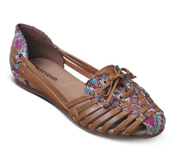 Sandália rasteira trançada com laço frontal | Sandálias | Bottero Calçados