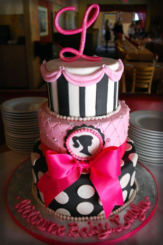 I so want a Barbie cake! With a big pink bow! I don't care if I am 30, I still want one.                                                                                                                                                                                 More