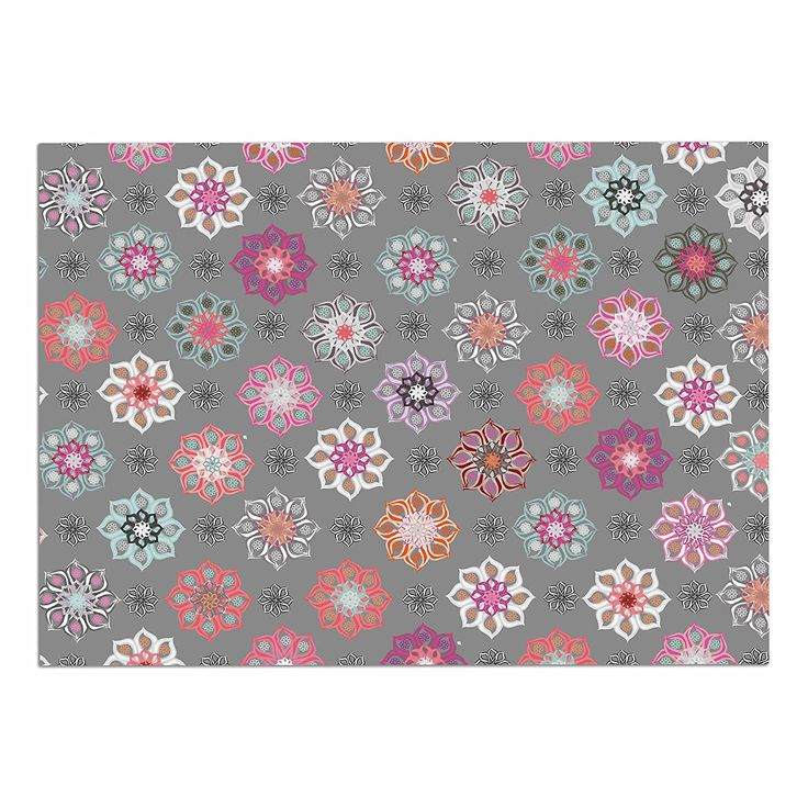 kess inhouse jolene heckman u0027mini floral u0027 pink gray dog place mat x additional details at the pin image click it dog food container