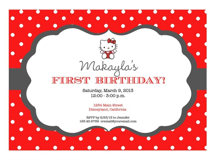 30 best Hello Kitty Party images – Hello Kitty Birthday Party Invitations Printable