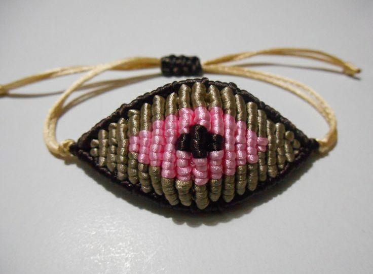 coffe/beige/pink evil eye